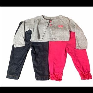 Carter's 6-9 months leggings and sweater